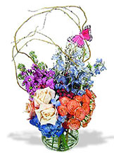 Grande Butterfly Garden Vase - by Avante Gardens Florals Unique