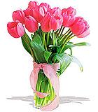 Precious Pink Tulips - Deluxe
