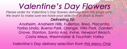 Anaheim and Orange County Valentine's Day Flowers Delivery