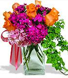 Orange and Raspberry Sorbet Bouquet