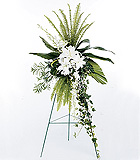 Elegant White Easel Spray