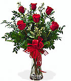 Half Dozen Roses - by Avante Gardens Florals Unique