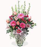 Pink Celebration Vase