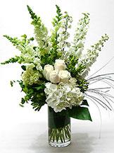 Tranquil White Vase Arrangement by Anaheim Florist Avante Gardens