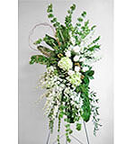 White and Green Easel Spray by Anaheim Florist Avante Gardens