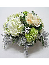 Shimmering Winter Centerpiece Avante Gardens by Everyday Flowers