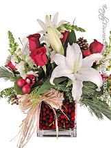 Cranberries and Christmas Flowers