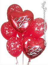 I Love You Foil Balloons And Hearts