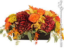 Long Low Autumn Fall Flower Arrangements For Delivery