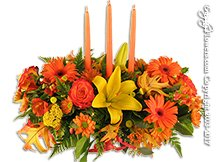 Thanksgiving Flowers With Candle Delivery Avante Gardens by Everyday Flowers