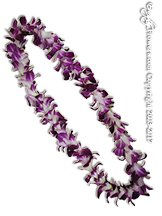 Purple Orchid Lei Single