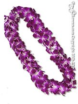 Purple Orchid Lei Double Strand
