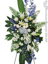 Blue Horizon Standing Funeral Flowers