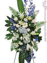 Blue Horizon Standing Funeral Flowers