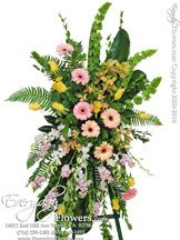 Loving Pastel Standing Funeral Flowers Avante Gardens by Everyday Flowers