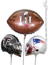 Super Bowl LI Balloons Patriots And Falcons