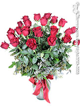 Two Dozen Long Stem Red Roses Valentines Delivery