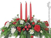 Christmas Three Candle Centerpiece