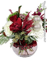Making Holiday Traditions Christmas Flower Arrangement