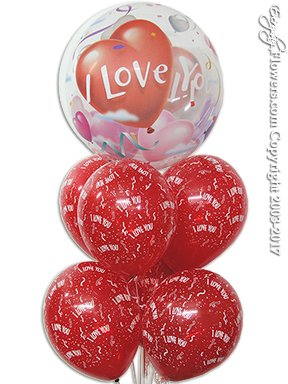I Love You Balloon Bouquet Delivery by Avante Gardens Anaheim Florist