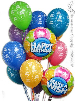 Make A Wish Birthday Balloons