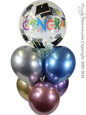 Graduation Chrome Balloons