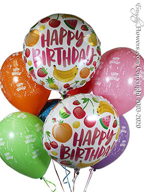 Birthday Fruits Balloons