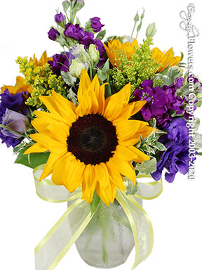 Sunflowers And Lisianthus Delivery by Avante Gardens Florist