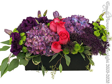 Long Low And Colorful Delivery by Avante Gardens Anaheim Florist