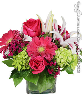 Raspberry Spring Flowers - Delivery by Avante Gardens