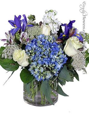 Tranquil Blue Flower Arrangement by Avante Gardens