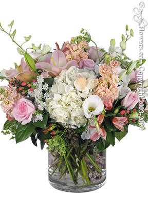Sea Shells With Premium Cut Flowers Delivery by Avante Gardens Anaheim Florist