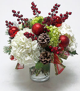 Holiday Hydrangeas amp Berries Centerpiece