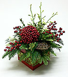 New Traditions Christmas Centerpiece by Anaheim Florist Avante Gardens