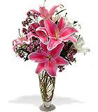 Spring Lilies Vase