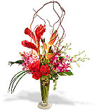 Roses and Tropicals Vase