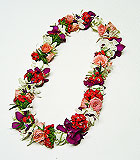 Mixed Roses and Orchids Lei