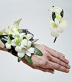 Calla lily and orchid corsage and boutonniere