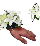 White orchid prom corsage and boutonniere
